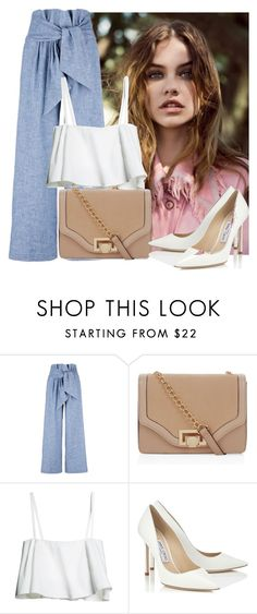"""""""Sin título #958"""" by kthrin ❤ liked on Polyvore featuring MSGM, New Look and Jimmy Choo"""