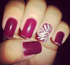 Zebra vinho rsrs #nails