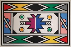 Esther Mahlangu, One Of South Africa's Most Famous Artists, Perpetuates Traditional Ndebele Painting — Forbes - Esther Mahlangu, One Of South Africa's Most Famous Artists, Perpetuates Traditional Ndebele Paint - South African Design, South African Artists, South African Tribes, African Logo, African Style, South Africa Art, Most Famous Artists, Pattern Art, Art Patterns