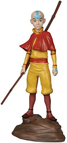 """Dark Horse Deluxe Avatar: The Last Airbender: Aang Statue:   As the Avatar of his time, Aang is the only one capable of using all four bending arts: earth, water, fire, and air, Here he is captured in a majestic pose from Nickelodeon's animated series and the Dark Horse comics. Dark Horse is proud to bring forth this limited edition 8 1/4"""" tall polyresin statuette, sculpted by Joe Menna and sure to please Avatar fans."""