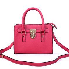 Michael Kors Hamilton Traveler Small Pink Satchels only $71.99