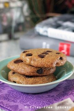 Made with Sorghum & Almond. New gluten-free chocolate chip cookies - from the Gluten-Free Goddess