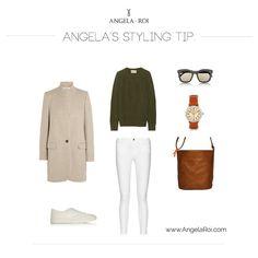 Angela's Style Tip: Minimal Orange Brown Bucket Shoulder.  Fall Winter 2015