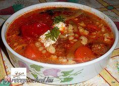 Érdekel a receptje? Kattints a képre! Goulash, Chana Masala, Rind, Stew, Chili, Ethnic Recipes, Chile, One Pot, Chilis