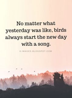 New Day Quotes no matter what yesterday was like birds always start the New Day Quotes. New Day Quotes today is a new day live life happy 71 inspirational new day quotes and sayings sayings point 71 inspirational new day q. New Day Quotes, Quote Of The Day, Quotes To Live By, Me Quotes, Motivational Quotes, Inspirational Quotes, Start The Day Quotes, Quotes From Songs, Starting Over Quotes
