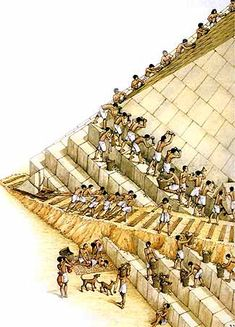 Ancient Egypt Slaves Building Pyrimads | ... build his own pyramid he got hundreds of slaves to do it instead