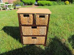 grass basket storage shelving unit