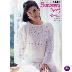 Ladies mohair and elysee jumper Knitting pattern. # sunbeam1445 on eBid United Kingdom £1.00