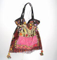 Bohemian Hippie look Handmade Women vintage tribal fabric | bohemiantouch - Bags & Purses on ArtFire