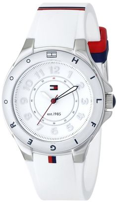 Tommy Hilfiger Women's 1781271 Stainless Steel Watch with White Silicone Band #TommyHilfiger #Sport