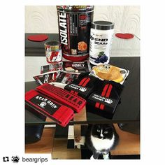 #Repost @beargrips with @repostapp  Glad to be part oof the package!! Would be incomplete without us   Link to amazon store in bio shipping worldwide enjoy   @Regrann from @hanmarnie -  Thank you to @tnutrition for sorting me out as always! The glazed donut protein by @prosupps_uk is unbelievable  @beargrips have arrived to help me with those deadlifts too  - on a mission!  Sylvie looks like she approves of it all too #personaltrainer #liverpool #supplements #protein #isolate #shake #cookies…