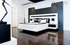 Effect Picture Of Simple Modern Style Bedroom Headboard Wall Decoration - http://www.2014interiordesign.com/design-photos/effect-picture-of-simple-modern-style-bedroom-headboard-wall-decoration/