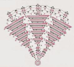 ideas for crochet doilies free pattern runners christmas trees Crochet Tunic Pattern, Crochet Doily Patterns, Crochet Chart, Filet Crochet, Crochet Doilies, Crochet Christmas Decorations, Crochet Christmas Trees, Christmas Crochet Patterns, Holiday Crochet