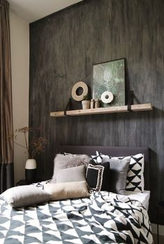 Inspiration: a wooden board in your interior - Small Room Decor, Baby Room Decor, Scandi Bedroom, Bedroom Decor, Fashion Room, Room Interior, Interior Wallpaper, New Room, Inspiration