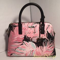 """Kate Spade Small Rachelle Brightwater • Material: pvc leather • Measurment: 13 W x 10 H x 4  • Real photo  taken from• Material: smooth leather • Real photo  taken from me • Brand new✨, never used,100% authentic from Kate Spade New York • Tag and care card are included • Pack with careand ship✈️right away •TradeP.P.Hold • Plz use OFFER button for reasonable offers. I said """"YES"""" most of the time. kate spade Bags Satchels"""