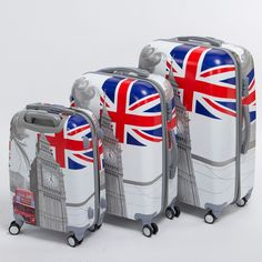 (255.07$)  Watch here - http://ains9.worlditems.win/all/product.php?id=32789683345 - High quality 20 24 28inches(3 pieces/set) pc hardside trolley luggage,man and woman travel luggage bags of london bus,uk flag