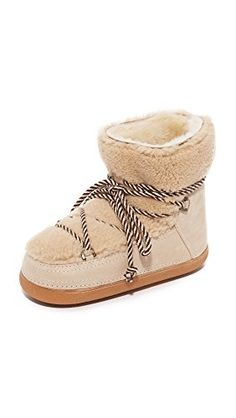 INUIKI Womens Curly Shearling Booties Beige 37 EU 75 BM US Women >>> Details can be found by clicking on the image.