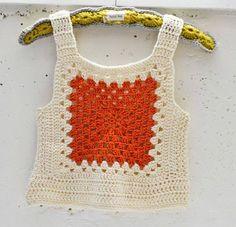 Maize Hutton: A Rib Tickler & Happy Mail! Crochet Woman, Love Crochet, Crochet Granny, Crochet Motif, Diy Crochet, Crochet Hooks, Crochet Patterns, Crochet Top, Crochet Tank Tops