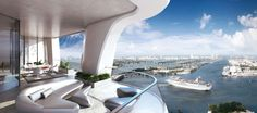 The Height of Luxury: 9 Renderings Give a Glimpse Inside Zaha Hadid's Majestic Miami Condo - Architizer