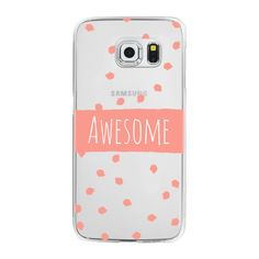 Samsung Galaxy / LG / HTC / Nexus Phone Case - Modern coral awesome... ($40) ❤ liked on Polyvore featuring accessories, tech accessories, phone cases, phones and android case