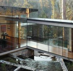 glass homes in the jungle | Glass house in the woods | If I win !