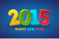 Happy new year saying art 2015
