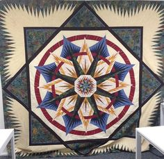 Mariner's Compass, Quiltworx.com, Made by CI Anne Hall