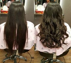 Look at the volume she got. Soft, shiny, bouncy and overall soooo sexy~ this is what digital perm is!