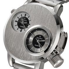 Essential  Hot Luxury High Quality Fashion New Mens Stainless Steel Date Military Sport Quartz Analog Wrist Watch Jan09 #Affiliate