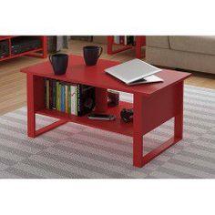 Rectangular Wooden Beside Coffee Tea Table with Bottom Shelf Home Room Furniture
