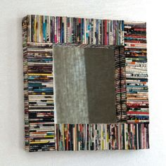 Creative ideas for you: diy Urban Outfitters Inspired Recycled Magazine Mirror Recycled Magazines, Old Magazines, Recycled Crafts, Diy Crafts, Recycled Cds, Diy Recycling, Magazine Crafts, Magazine Art, Best Decor