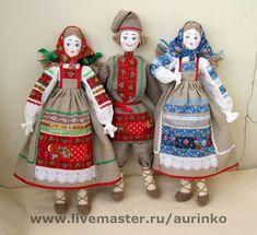 Кукла в русском народном костюме пара