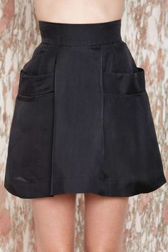 I love the design. Wish it  was knee length, though. Chloé Don't Look Back Skirt | Shop The Score at Nasty Gal