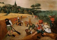 Pieter Brueghel The Younger (Belgian, 1564/1565-1636)  Summer: harvesting, N/D  Oil on panel, 52 x 72 cm
