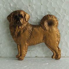 Tibetan Mastiff Red Brooch Dog Breed Jewellery Handpainted Handcrafted Resin