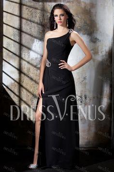 Elegant A-Line One-Shoulder Evening Dress For U.
