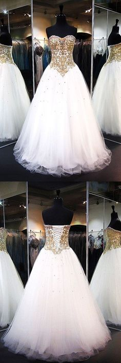 #White #Tulle sweetheart #Gown #Dresses #PartyDress #EveningDress