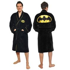 DC Comics Men's Batman Fleece Bathrobe