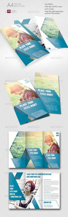 Striped Trifold Brochure: