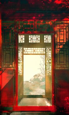 Stunning Chinese traditional furniture details home design, home decorations Ancient Chinese Architecture, Chinese Buildings, Chinese Landscape, Landscape Art, L5r, China Art, Anime Scenery, Art Graphique, Chinese Painting
