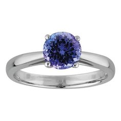 Tanzanite Ring in White Gold - JDC Jewellers Tanzanite Ring, Pretty Rings, Heart Ring, Sapphire, White Gold, Engagement Rings, Jewels, Diamond, Stuff To Buy