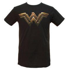 8ba8bde9 Free Shipping. Buy DC Comics Justice League Movie Wonder Woman Logo Adult T- Shirt