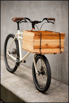 The Nose bike, when equipped with a crate makes a pretty convenient grocery getter.