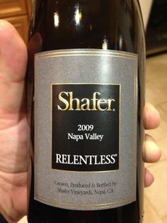 Shafer's 2009 Relentless.  It isn't often you find a decent shiraz from the U.S., but Shafer's Relentless is certainly worthy of note. With a blend of Syrah and Petit Syrah grapes, the wine continuously shows well year after year.     A very pleasant, spicy and bold nose.  Strong flavors of red fruit (cherries, black berries), with a medium to peppery but very pleasant finish. Really opened up after an hour or so.  Certainly worthy of a night out with friends.  $$ / ++