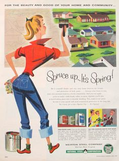 1950s Retro Magazine Advertisement by TheVintageResource on Etsy