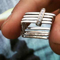 """Infinite shared wonder heart"" #Romantic lines of my #job #engagement #ring #contemporaryjewellery 18kt  #whitegold #larissalandinez #northernbeaches #balgowlah"