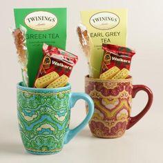 Tea Mug Gift Set via Cost Plus World Market >> #WorldMarket #Holiday Gift Giving Ideas