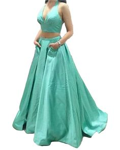 EnjoyDress Women's Satin 2 Pieces Prom Dresses 2016 Long Evening Formal Dresses Size 24. Zipper up back,when you choose your size, you had better choose the bigger size,it is better to choose bigger 2cm, please not choose a little small size.