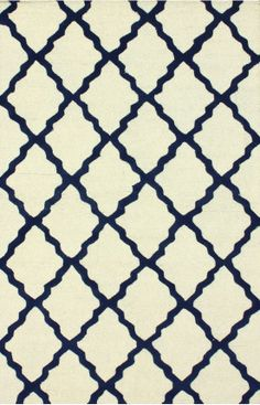 Rugs USA Homespun Moroccan Trellis Blue Rug