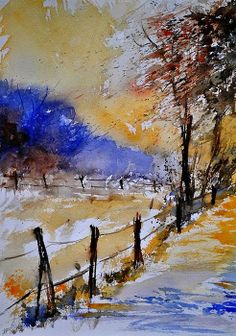 Pol Ledent art (watercolor) - via Jean-Pierre Truant's photo on Google+